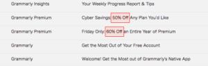 grammarly 割引 メール