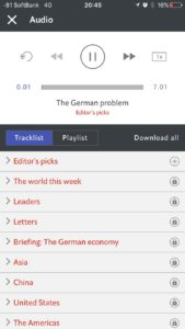 Economist アプリ 2