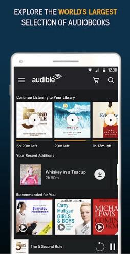 Audible アプリ画面