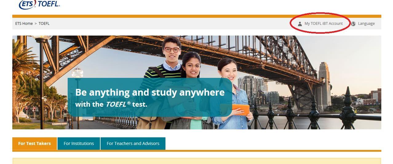 ETS TOEFL公式サイト