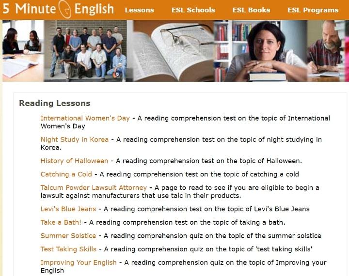 5 Minute English Reading