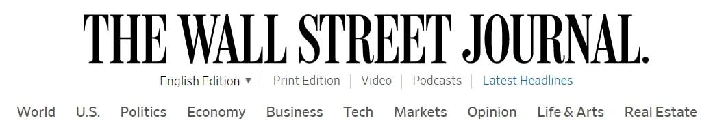 Wall Street Journal カテゴリー