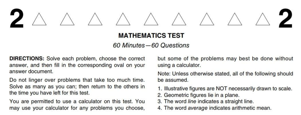 Act Math Test