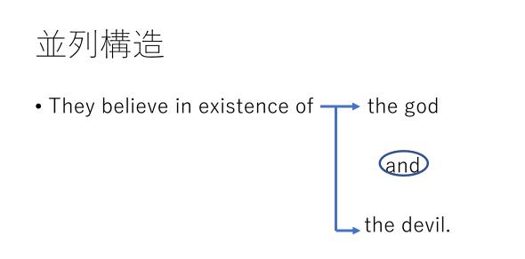 英語の並列構造
