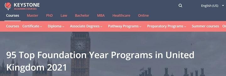 95 Top Foundation Year Programs in United Kingdom 2021
