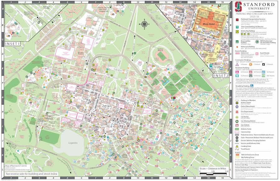 スタンフォード大学 地図