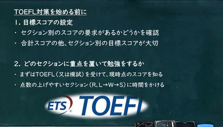 TOEFL対策を始めるその前に