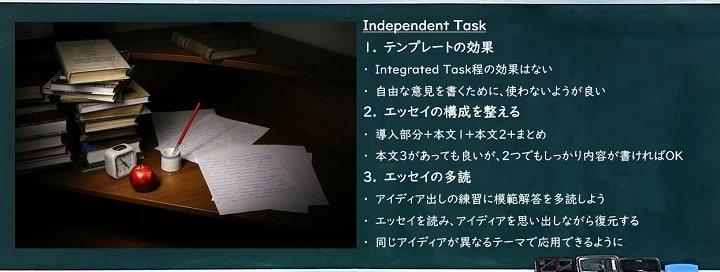 TOEFLライティング対策「IndependentTask」