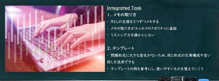 TOEFLライティング対策 「IntegratedTask」