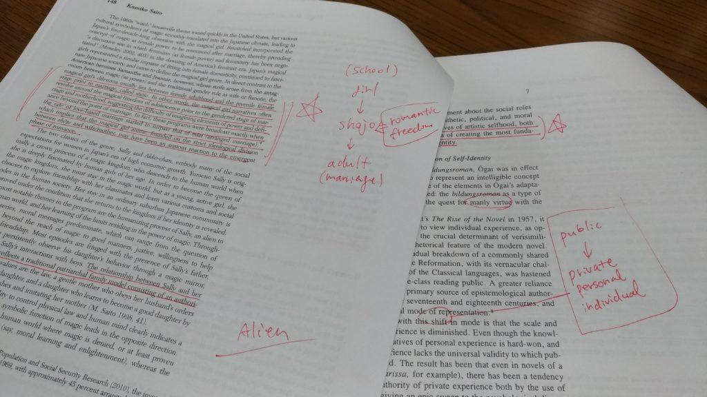 英語論文 メモの取り方