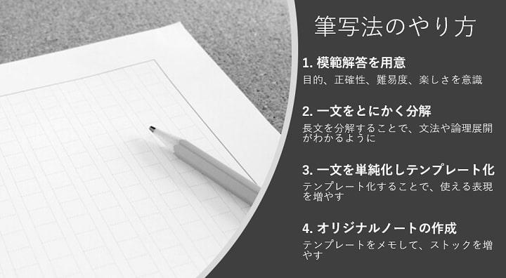 筆写法のやり方・勉強法