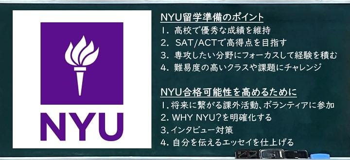 NYU劉学準備 ポイント