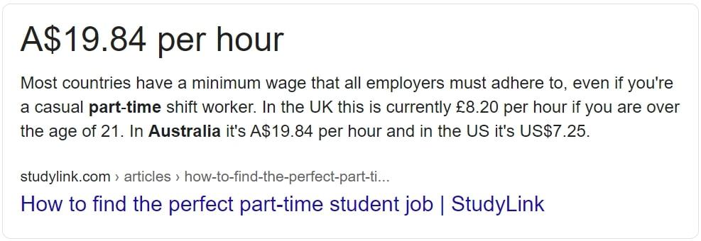 オーストラリア バイト 最低賃金