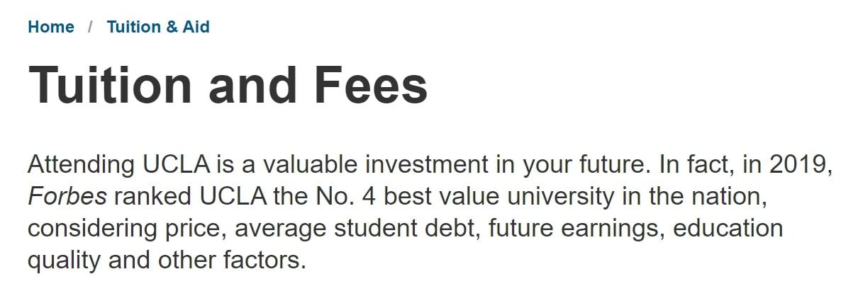 UCLA 学費
