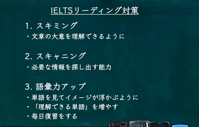 IELTS6.0 リーディング対策