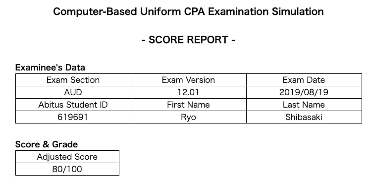 USCPA 模試