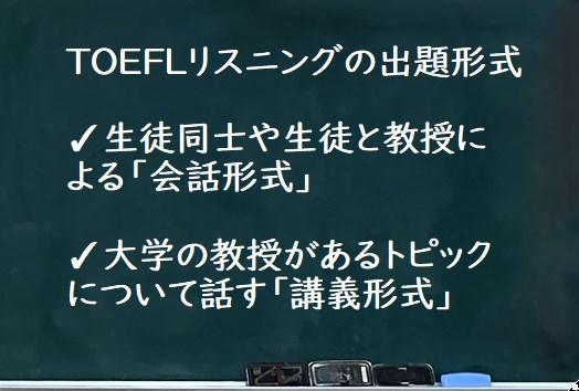 TOEFLリスニング形式