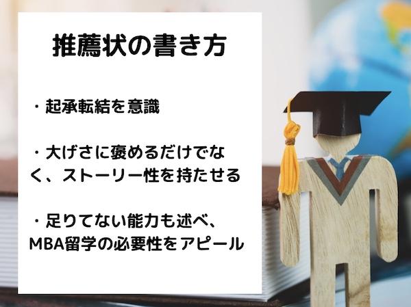 推薦状の書き方 MBA留学