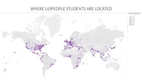 UoPeople 学生の国籍