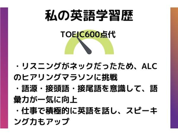 MBA英語学習 TOEIC600点代