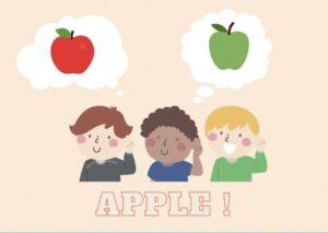 りんご 英語のイメージ