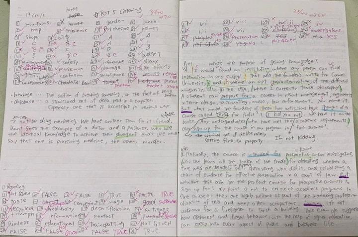 IELTS 7.0 リーディング勉強ノート