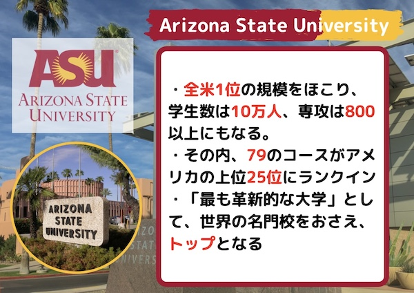 Arizona State University 特徴