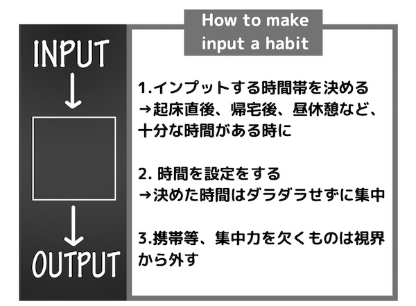 英語のインプットの仕方