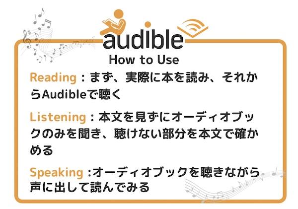 Audible英語学習方法